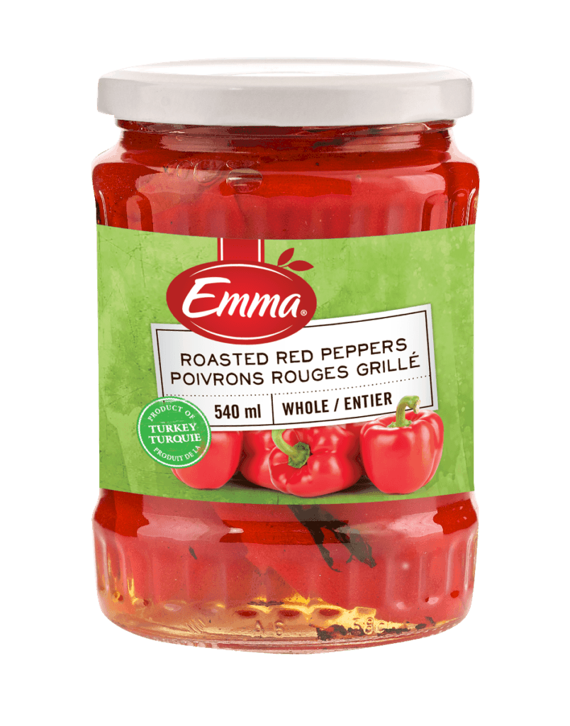 Emma Roasted Red Peppers - Glass Jar.