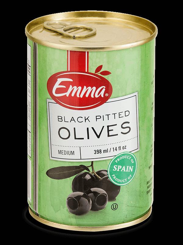Emma Black Pitted Olives.