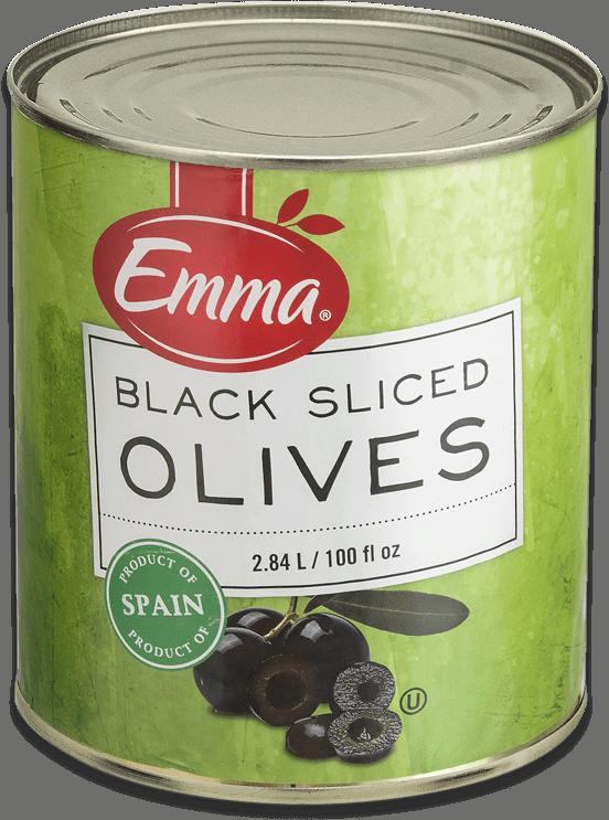 Emma Black Sliced Olives.