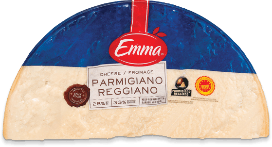 Packaging for Emma Parmigiano Reggiano.