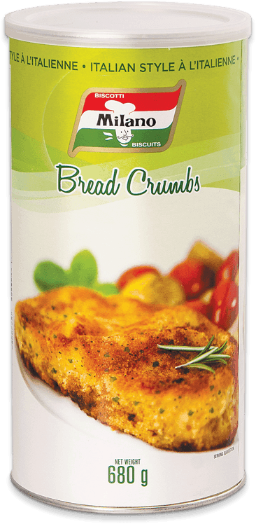 Packaging for Milano Italian Style Bread Crumbs.