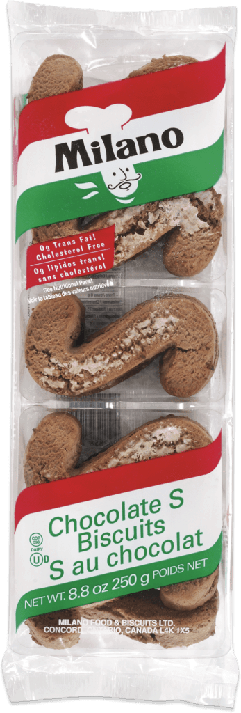 Packaging for Milano Chocolate S Biscuits.