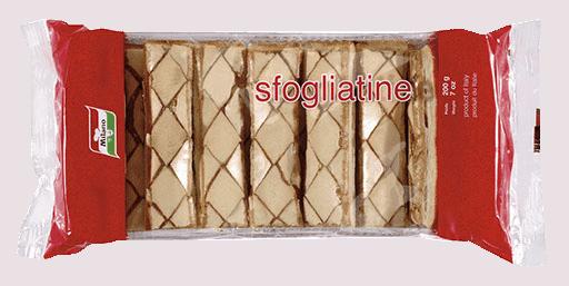 Packaging for Milano Sfogliatine.