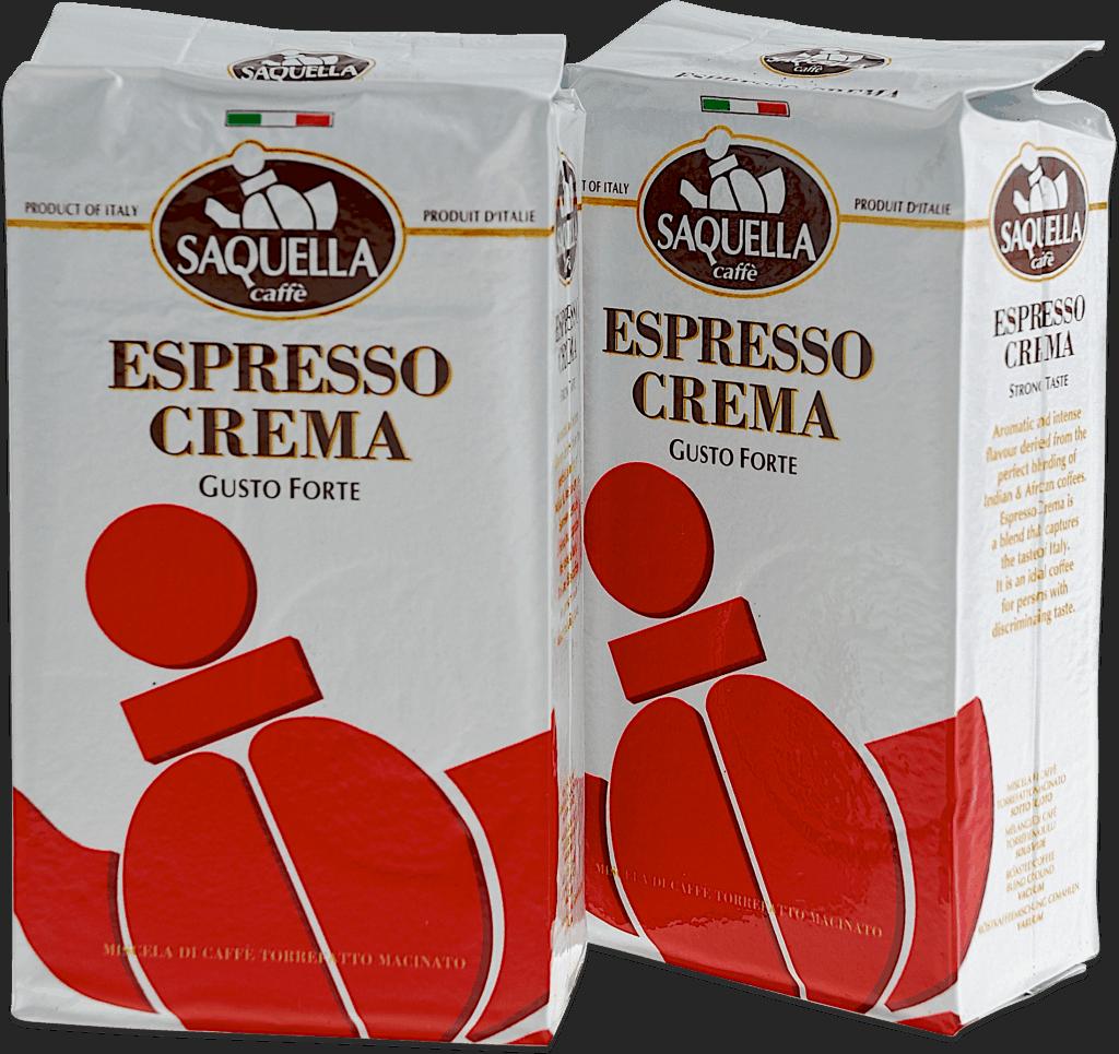 Saquella Espresso Crema.